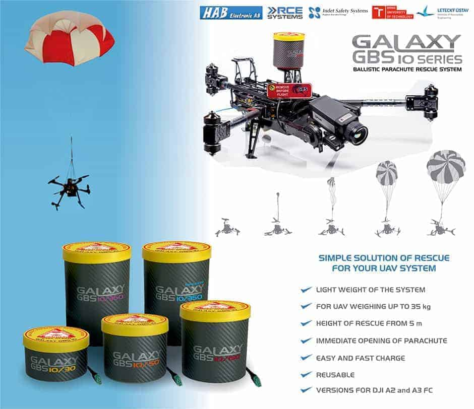 Galaxy GRS Ballistic Parachute Rescue System