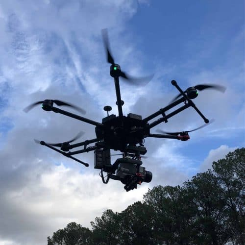 M600 Pro OGI Gas Thermal Imaging UAV System In Flight