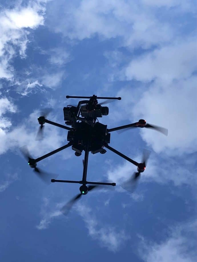 M600 Pro OGI Gas Thermal Imaging Drone System In Flight