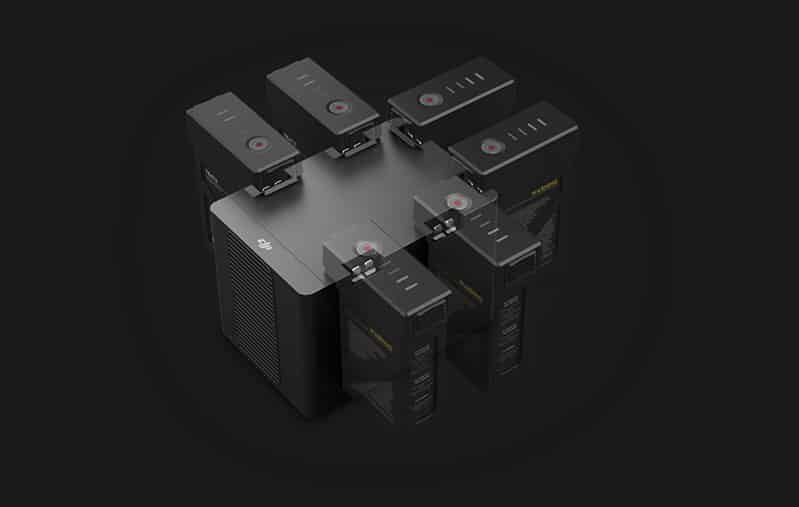 DJI Matrice 600 Pro - Hex charger charges six batteries simultaneously