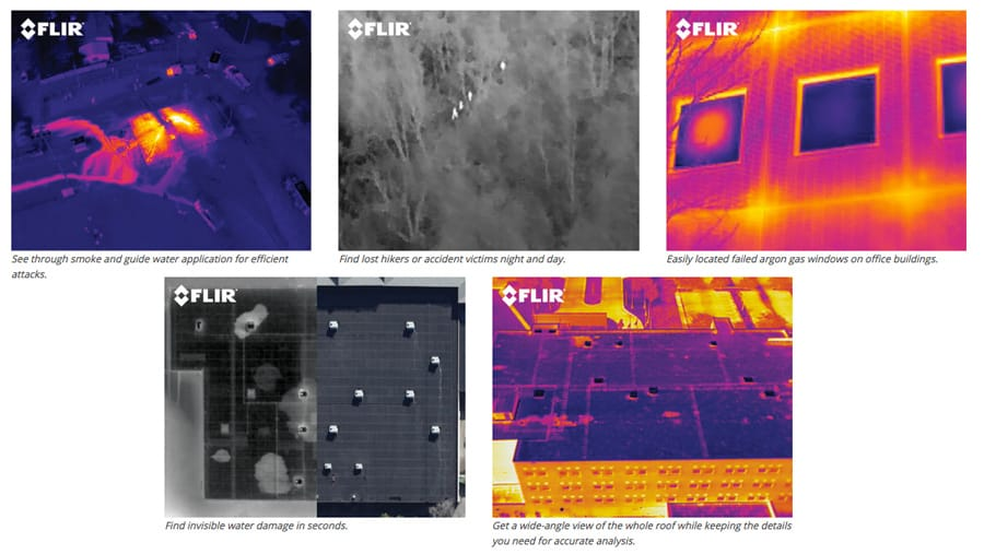 FLIR examples of images produced by Thermal Imaging Camera