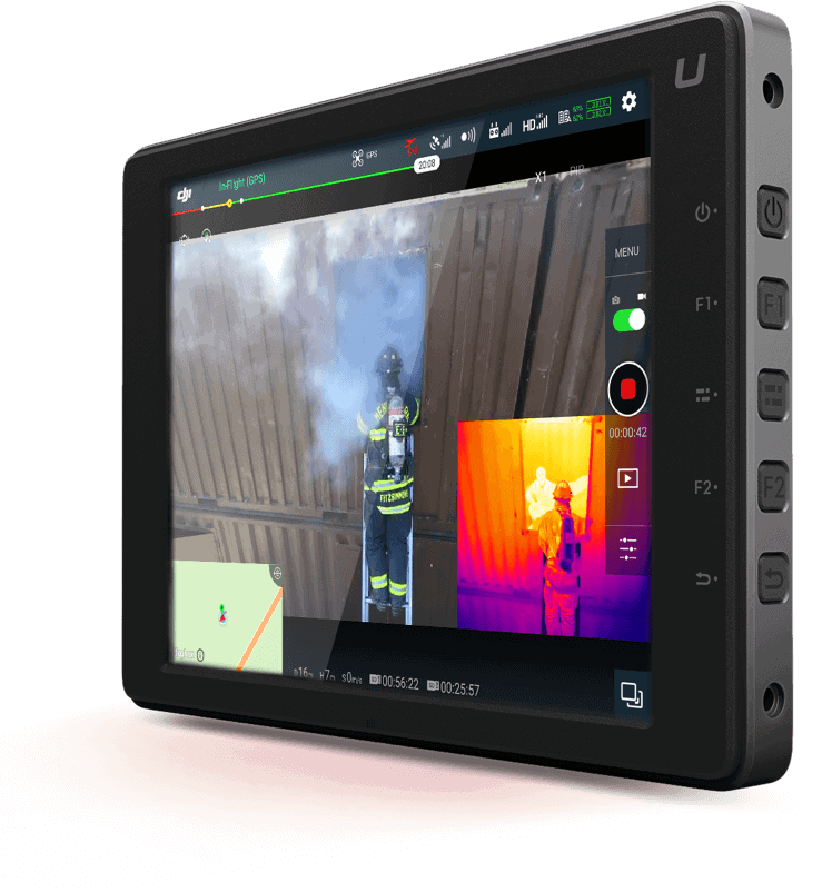 DJI FLIR Zenmuse XT2 Applications By Vertical Tablet View